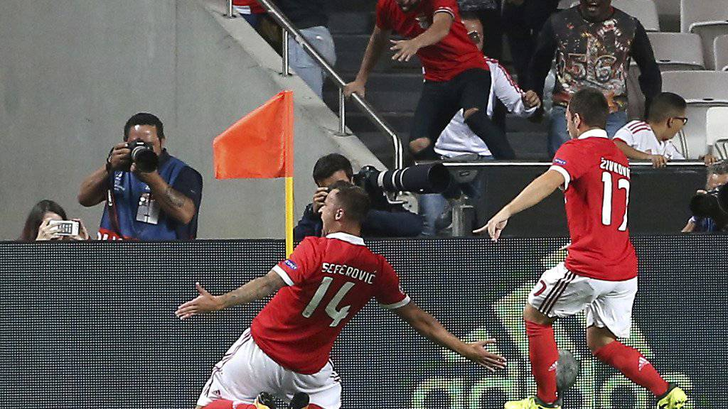 Benficas Haris Seferovic bejubelt das frühe 1:0