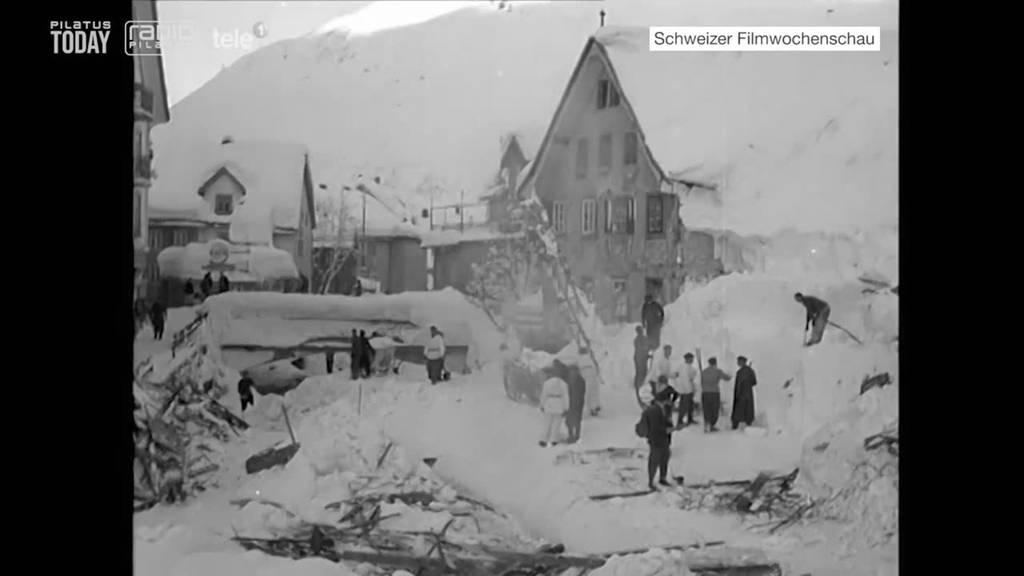 Erinnerungen an das Lawinenunglück von Andermatt