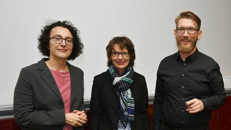 Susanna Frigerio, Marianne Wolfensberger und Stefan Armenti (v.l.) referierten im Bürgerspital.