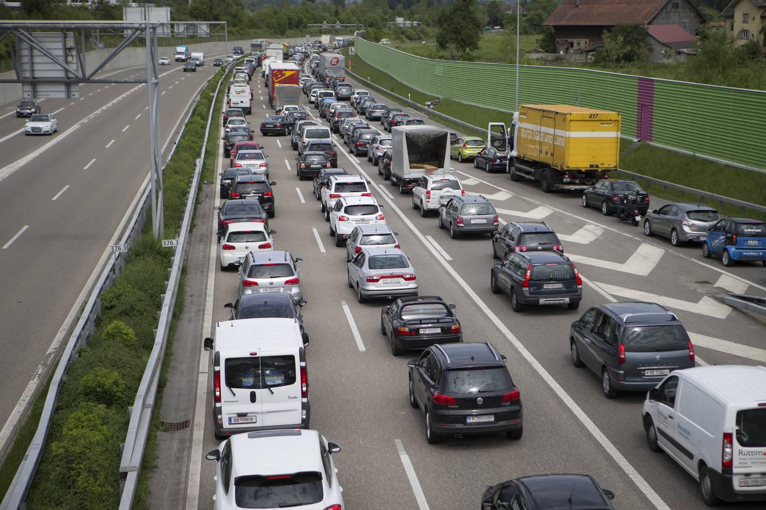Stau Stadtautobahn