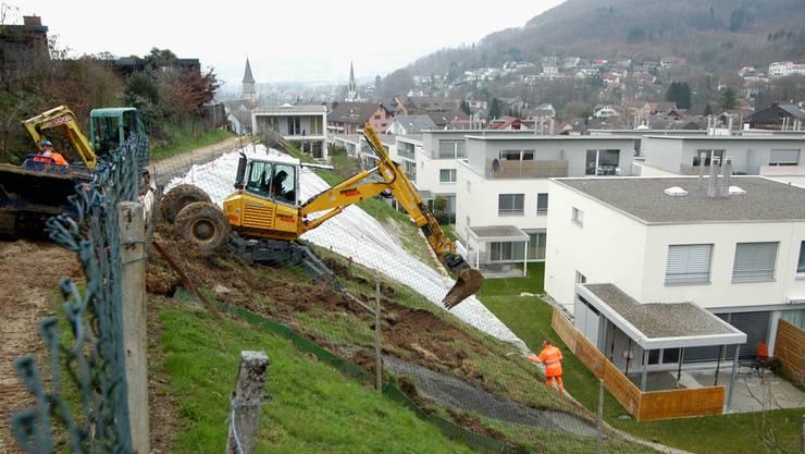 2006 geriet in Gebenstorf ein Hang oberhalb einer Überbauung ins Rutschen.