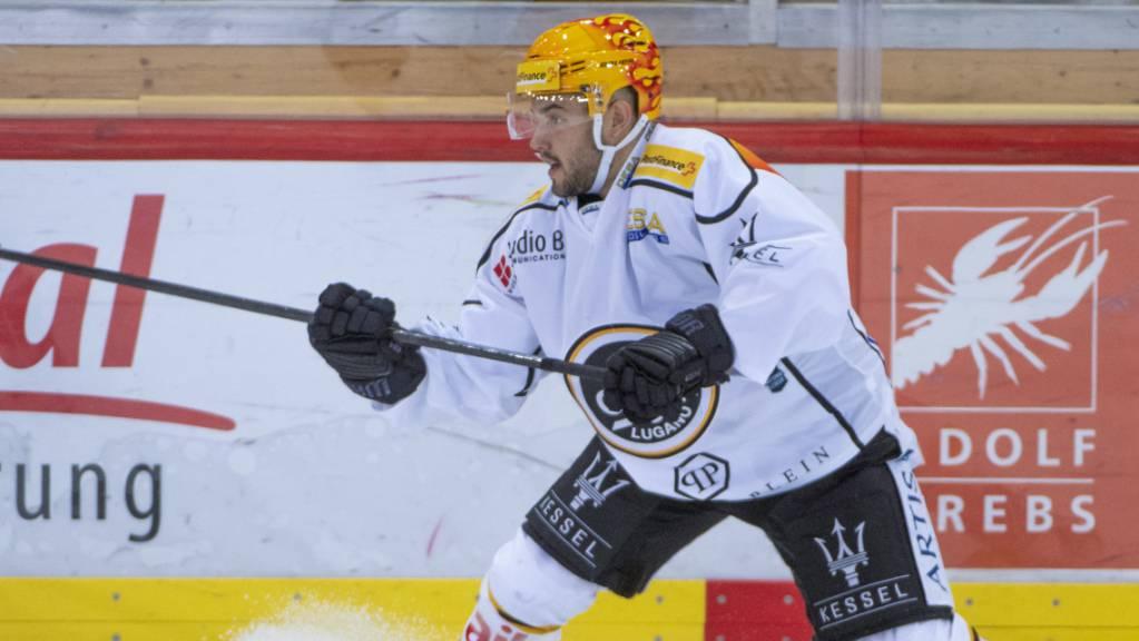 Gross in Form: Luganos PostFinance-Topskorer Luca Fazzini erzielte auch gegen die Rapperswil-Jona Lakers zwei Tore