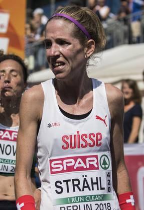 Martina Strähl: «Ich bin extrem glücklich, dass ich bei diesen warmen Temperaturen so schnell war.»