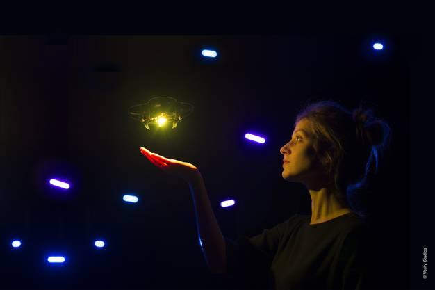 So sieht eine einzelne Mikro-Drohne Lucie aus