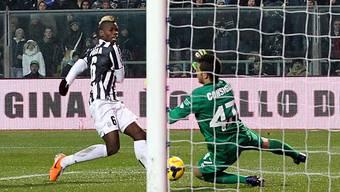 Paul Pogba schiebt ein zum 2:1 für Juventus.