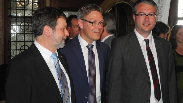 Die neu gewählten: Roland Heim, Roland Fürst und Remo Ankli