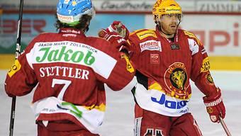 Langnauer Torschützen: Martin Stettler (l.) und Kurtis McLean