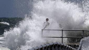 Erste Zeichen des Hurrikans in Ponce Inlet, Florida.
