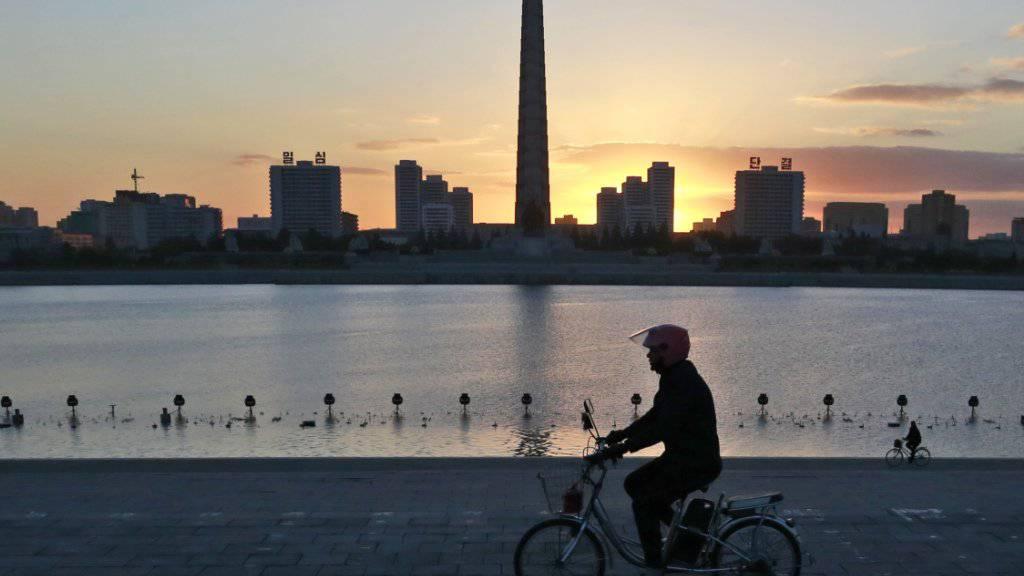 Die Skyline der nordkoreanischen Hauptstadt Pjöngjang. (Archivbild)
