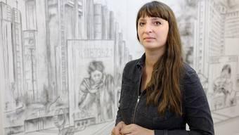 Ana Vujic zeigt zurzeit eine Gruppenausstellung in ihrem Atelier- und Kunstraum Voltage in Basel.