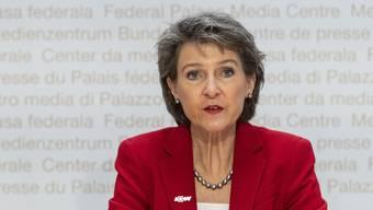 Simonetta Sommaruga hat in einem Telefongespräch die Position des Bundesrats dargelegt. (Symbolbild)