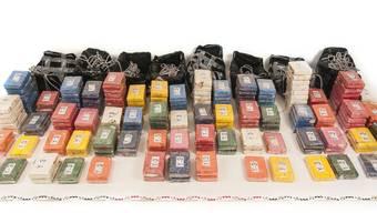 In den schwarzen Tüten waren 191 Kilogramm Kokain versteckt.