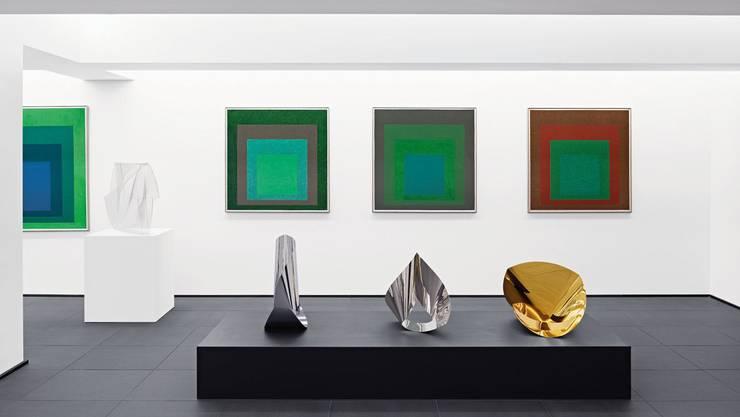 Ansichten aus Esther Grethers Privatmuseum in einem Hinterhaus der Firma Doetsch Grether AG bei der Basler Heuwaage.