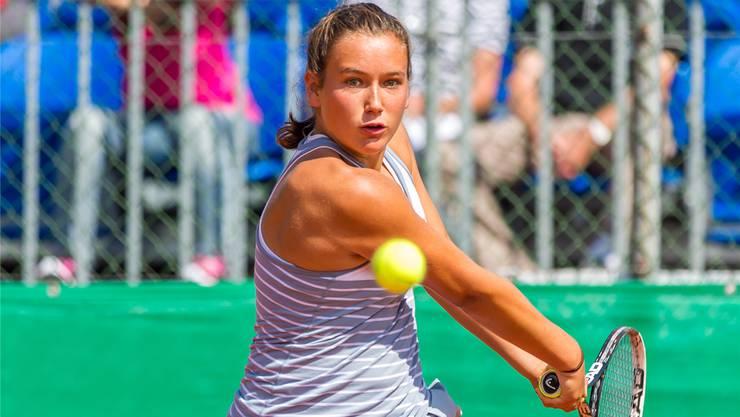 Die 17-jährige Walliserin Ylena In-Albon ist derzeit auf der internationalen Juniorentour enorm erfolgreich. fba