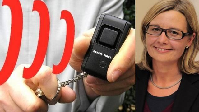 Schlüsselalarm statt Pfefferspray: Das fordert GLP-Grossrätin Martina Bernasconi.
