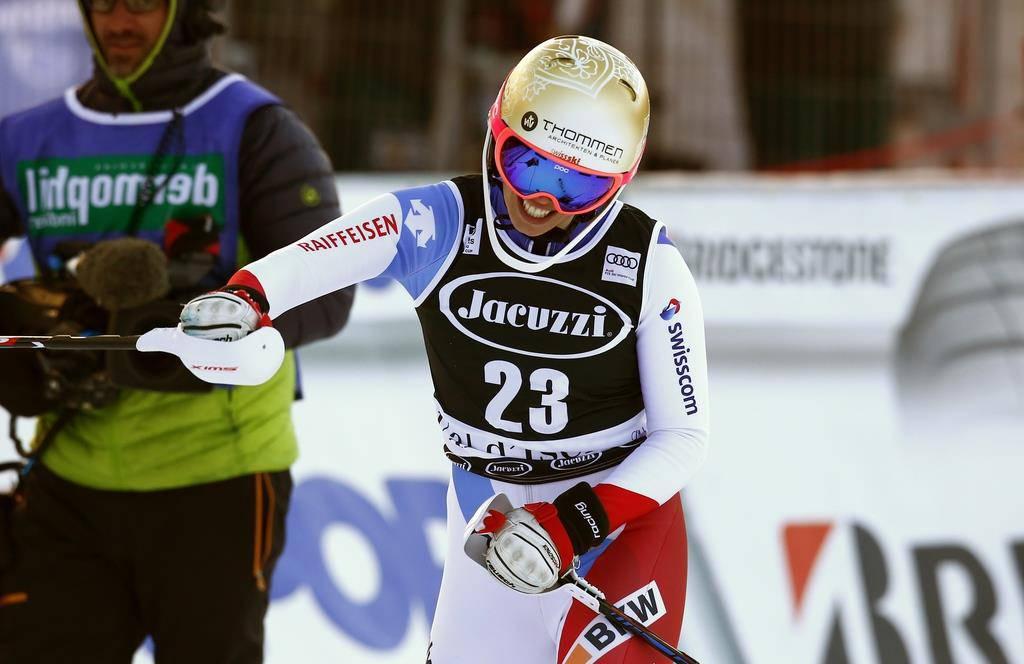 Michelle Gisin wird Zweite in Val d'Isère (© AP Photo)