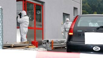 Spurensicherung am Tatort in Gränichen nach dem Mord.