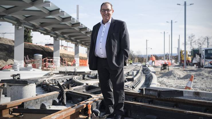 Alain Girny auf der Baustelle (Archivbild: 23. Februar 2017)