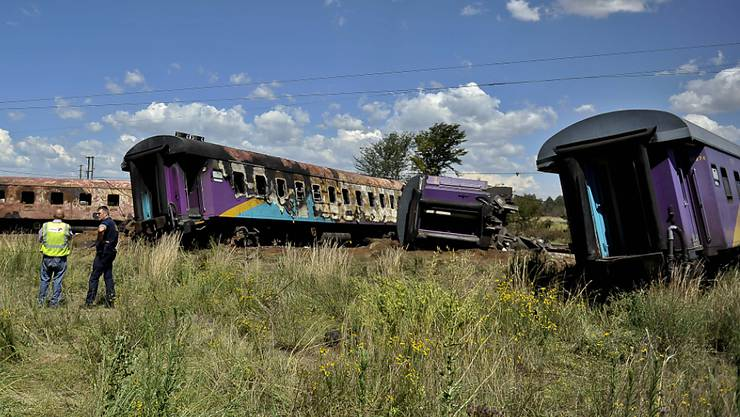 Überreste des entgleisten Zuges bei Kroonstad.