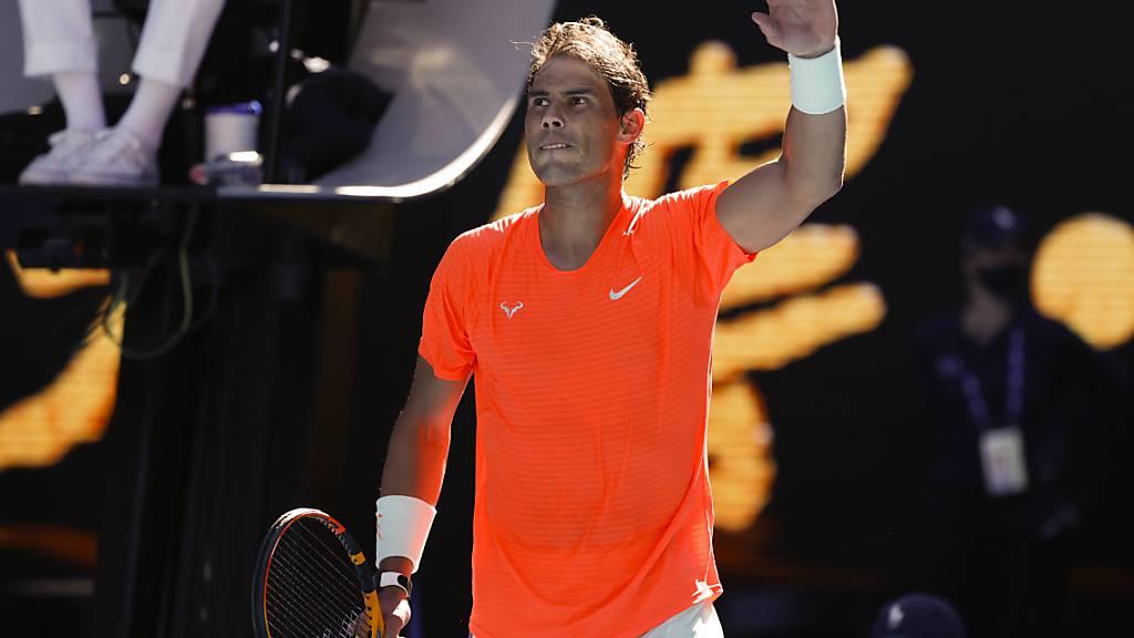 Rafael Nadal kam in der 1. Runde mühelos durch