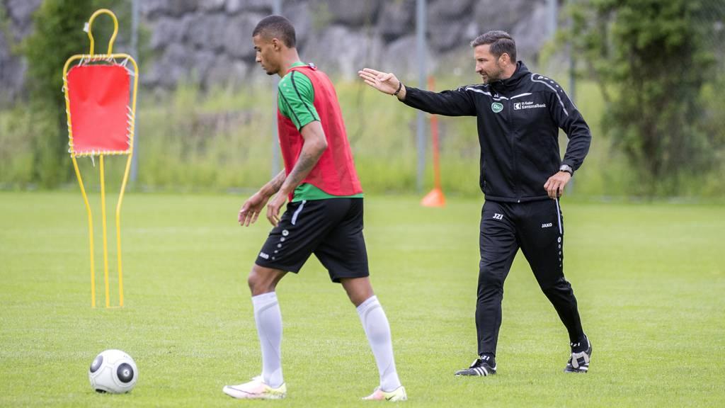 Martin Angha hat FCSG-Trainer Joe Zinnbauer gebeten einen neuen Captain zu bestimmen.