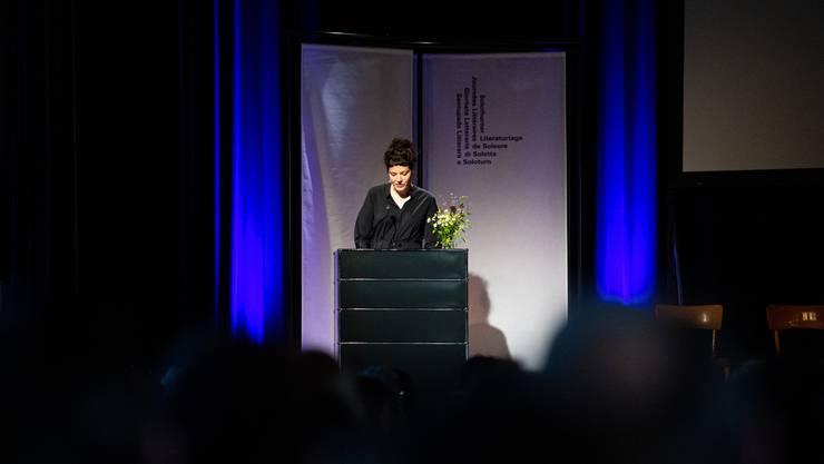 Eröffnung der 41. Literaturtage Solothurn, im Bild: Reina Gehrig, Geschäftsführerin der Literaturtage Solothurn