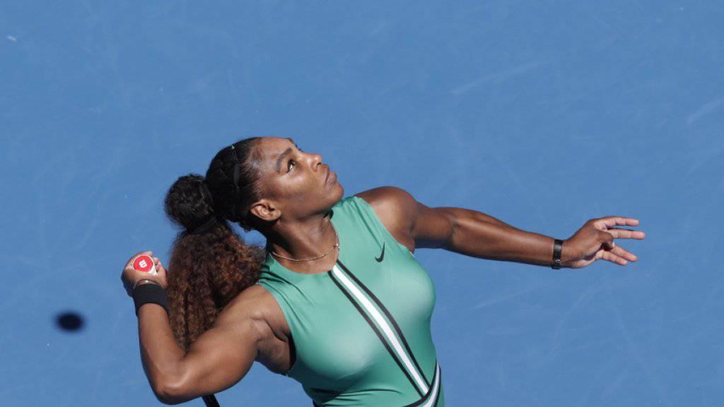 Dominierte in all ihren bisherigen Matches in Melbourne: Serena Williams