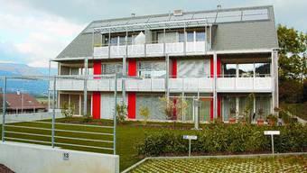 Büren: Ein Mehrfamilienhaus, errichtet nach Minergie-Standard. dsa