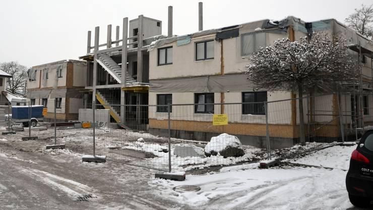 Zwei Stockwerke wurden gebaut, seit August aber ging nichts mehr an der Fulenbacherstrasse 40.