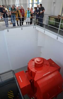 Besichtigung der neuen Turbine im Kraftwerk Aue