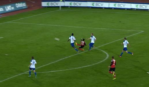 Zum immer und immer wieder schauen: Das Traumtor von Marvin Spielmann am 23.9.2015 gegen Lausanne.