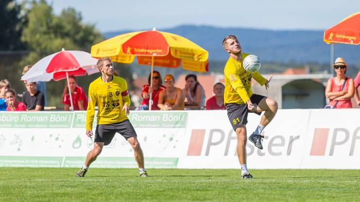 Das Team von Faustball Widnau läuft am European Cup in Kleindöttingen als Titelverteidiger auf.