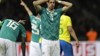 Keine Zukunft in der deutschen Nationalmannschaft: Sandro Wagner