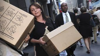 Am 15. 9. 2008 wurden Tausende Lehman-Mitarbeiter auf die Strasse gestellt.