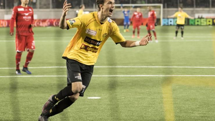 Doppeltorschütze gegen Aarau: Shkelqim Demhasaj vom FC Schaffhausen