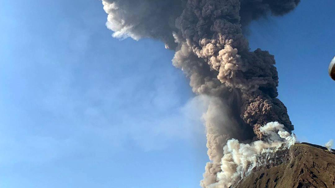 Vulkan Stromboli ausgebrochen
