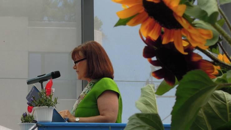 Frauen sind an Limmattaler Rednerpulten am 1. August in der Minderheit. Im Bild: Kantonsrätin Brigitta Johner in Dietikon 2012. Archiv