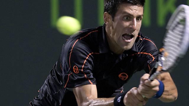 Novak Djokovic liess auch gegen Mardy Fish nichts anbrennen
