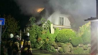 Es brannte im Bereich des Daches.