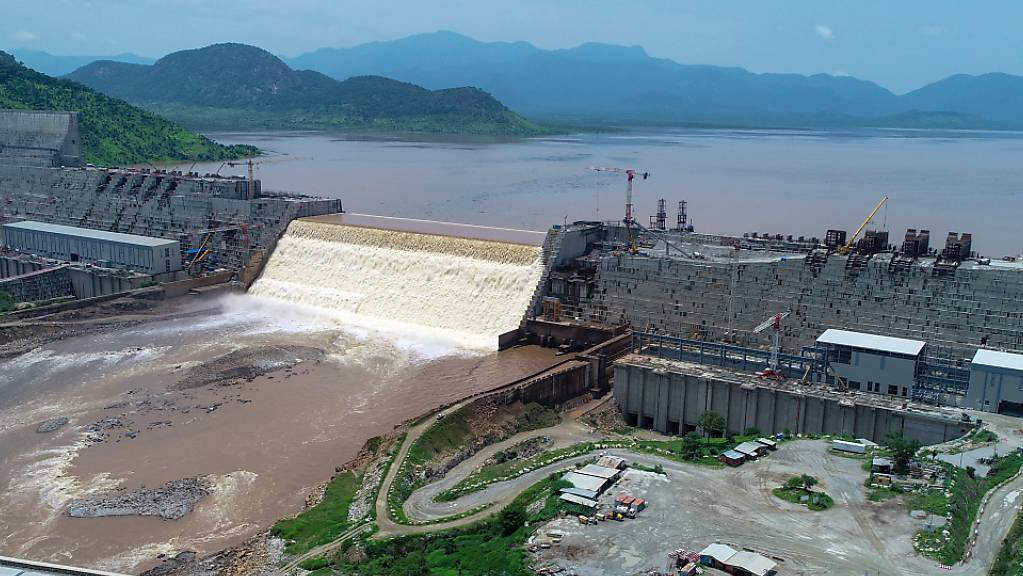 Streitobjekt: Der Grand Ethiopian Renaissance Dam auf dem Blauen Nil in Äthiopien. Foto: Yirga Mengistu/Adwa Pictures Plc/dpa