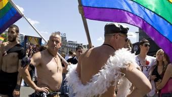 Keine legalen Ehen für gleichgeschlechtliche Paare in Frankreich, hier an der Gay Pride in Paris (Archiv)