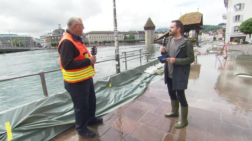 Hochwasser-Situation Schweiz