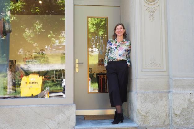 Michèle Mengozzi hat im Dezember 2018 an der Bäderstrasse ein eigenes Geschäft - Sprungbrett Baden - eröffnet.