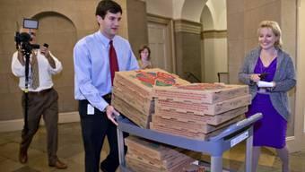 Pizza als Verpflegung während der Gespräche über das Schuldenlimit
