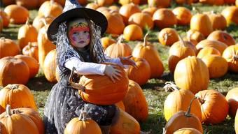 Gehören an Halloween zusammen: Kürbis und Verkleidung.Reuters