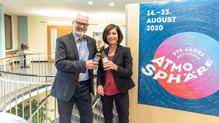 Vorfreude herrscht: Die OK-Leitung mit Paul Koller und Ursula Oeschger.zvg
