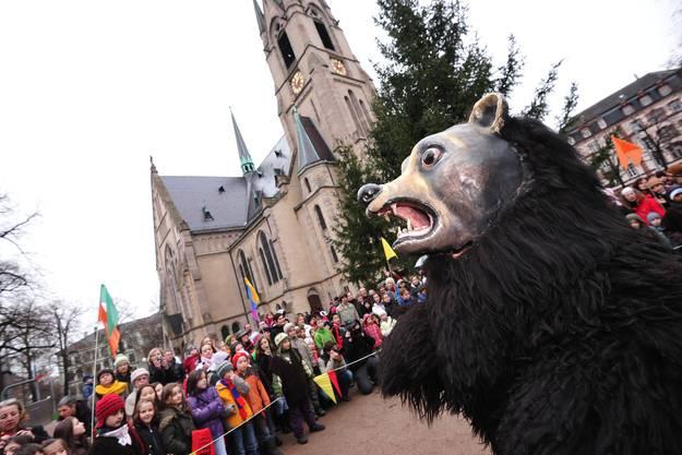 Der Bär gibt heute den Ton an