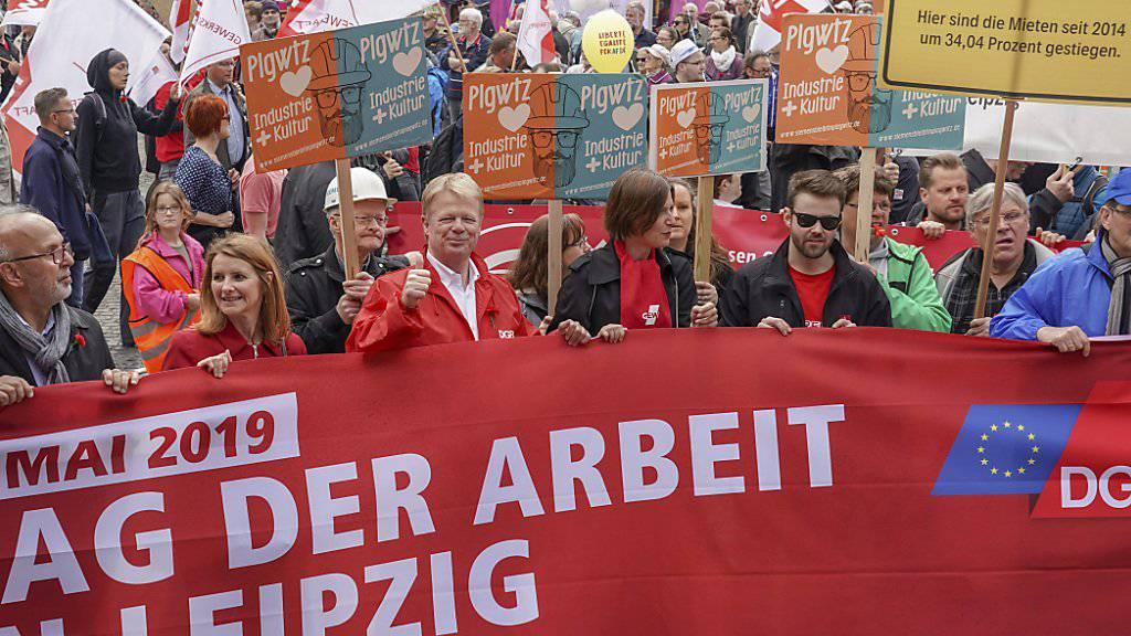 Mai-Kundgebung am Mittwoch in Leipzig.