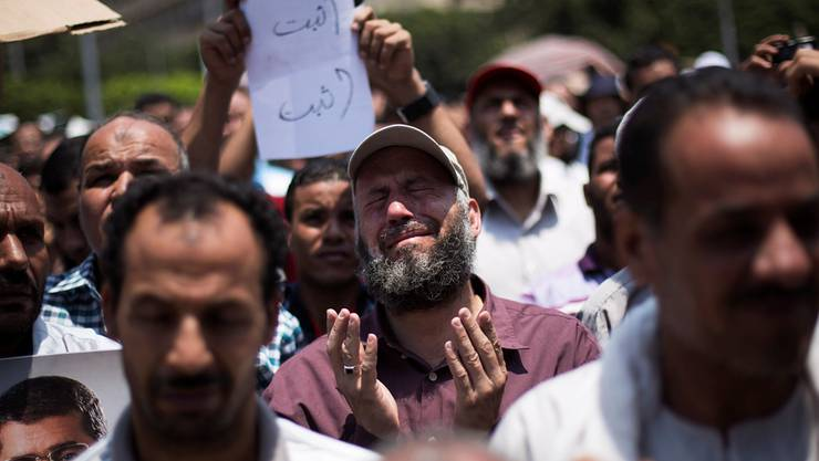 Die Muslimbruderschaft hat in Ägypten noch immer viele Anhänger: Demonstration für Mursi in Kairo. Manu Brabo/keystone
