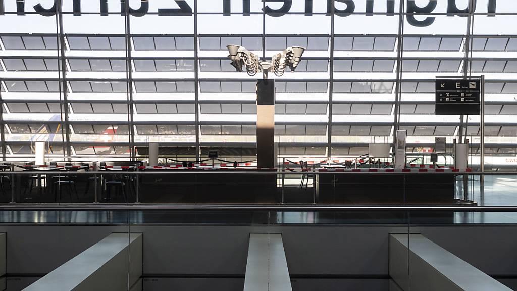 Flughafen Zürich mit deutlich weniger Flugverkehr im November